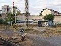 Praha-Holešovice zastávka, přístřešek zdálky.jpg