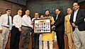 "Prakash Javadekar presented the portraits of Param Veer Chakra heroes to the Vice Chancellors of Universities, at the inauguration of the ""VIDYA, VEERTA ABHIYAAN"", in New Delhi (1).jpg"