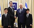 President Reuven Rivlin receives the credentials of new ambassadors at an official ceremony held at the Beit HaNassi, August 2017 (5368).jpg