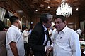 President Rodrigo Duterte chats with Department of Transportation Secretary Arthur Tugade after the 5th Cabinet meeting.jpg