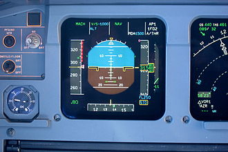 ASTech - Image: Primary flight display of an A320 during cruise