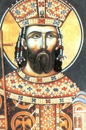Lazar of Serbia - Portrait of Prince Lazar in the Monastery of Ravanica (1380s)