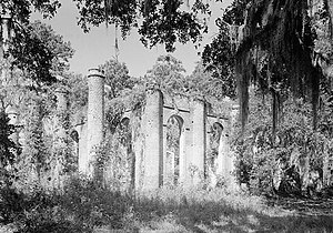 Sheldon, South Carolina - Old Sheldon Church Ruins