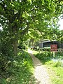 Private path to houseboats at Egremont Bridge - geograph.org.uk - 793340.jpg