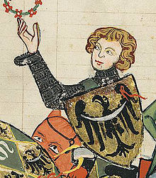 Henri IV le Juste - Enluminure issue du Codex Manesse.