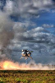 Project Morpheus Lander in free flight