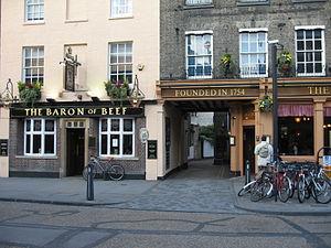 Bridge Street, Cambridge - Image: Pubs and shops on Bridge Street, Cambridge