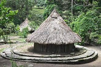 Muisca architecture - Bohíos were built slightly elevated from the surrounding area, like in Tayrona National Park