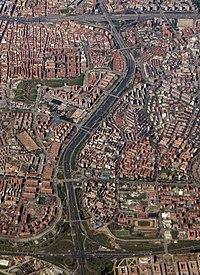 Puente de Vallecas - Aerial photograph (color, contrast, tone) (cropped) A3.jpg