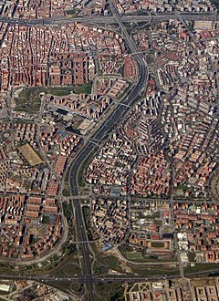 Puente de Vallecas - Aerial photograph (color, contrast, tone) (cropped) A3.jpg