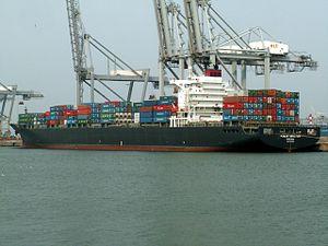 Pusan Senator p1, at the Amazone harbour, Port of Rotterdam, Holland 07-May-2006.jpg