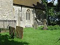 Quainton Church - Chancel and gravestones - geograph.org.uk - 939237.jpg