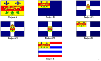 Flag of Quebec - Proposals prepared by Burroughs Pelletier.