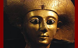 English: The sarcophagus lid of Queen Sitdjehu...