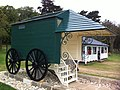 Queen Victoria's Bathing Machine in its new home on the sea shore - panoramio.jpg