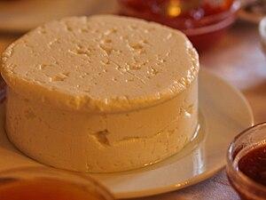 Português: Queijo Rabaçal fresco, um queijo po...