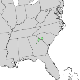 Quercus oglethorpensis range map 1.png