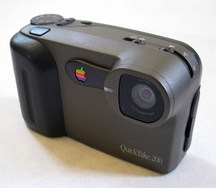 An Apple Quick Take 200 camera, circa 1996, courtesy Jared Benedict