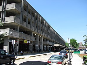 Quincy Center (MBTA station) - Quincy Center station is combined with a now-closed parking structure, soon to be demolished