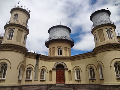 The Oldest Observatory in South America is the Quito Astronomical Observatory, founded in 1873 and located in Quito, Ecuador. The Quito Astronomical Observatory is managed by National Polytechnic School. Quito Observatory 04.JPG