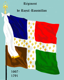 Drapeau d'Ordonnance du régiment Royal-Roussillon