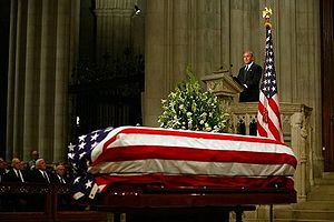Eulogy - George W. Bush delivers the eulogy at Ronald Reagan's state funeral, June 2004