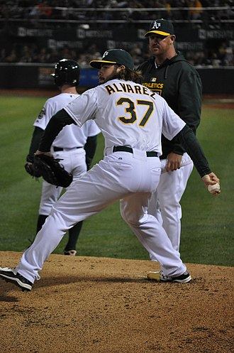 R. J. Alvarez - Alvarez with the Oakland Athletics