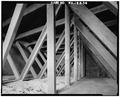 ROOF TRUSSES AT ATTIC - U. S. Border Inspection Station, 103 Cherry Street, Sumas, Whatcom County, WA HABS WASH,37-SUM,1-39.tif