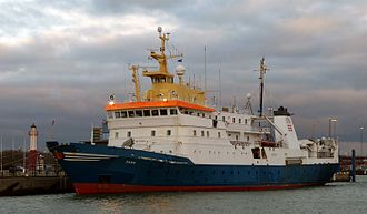 Technical University of Denmark - R/V Dana is DTU's research vessel, visiting Ystad 18 nov 2016.
