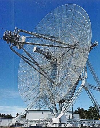 A long-range radar antenna, known as ALTAIR, u...