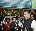 """Radha Mohan Singh interacting with the media after inaugurating the """"Organic Canteen"""" & """"Sale Centre"""" of the Seeds which are not eligible for sowing but use for food consumption, in New Delhi.jpg"""