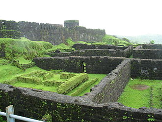 Third Anglo-Maratha War - Ruins of the old palace at Raigad fort