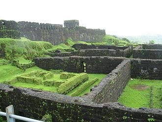 Third Anglo-Maratha War - Ruins of the old palace at Raigad fort