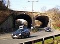 Railway mainline over A691 road. Durham - geograph.org.uk - 669365.jpg