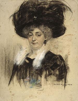 Josefa Texidor Torres - Portrait of Pepita Teixidor by Ramon Casas