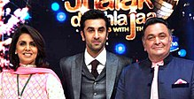 Ranbir with family on Jhalak.jpg