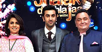 Ranbir Kapoor - Kapoor with his parents Rishi (right) and Neetu in 2013