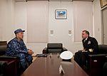 Rear Adm. Terry B. Kraft, commander of U.S. Naval Forces Japan, meets with Vice Admiral Masanori Yoshida, Japanese Maritime Self Defense Force (JMSDF) Sasebo District Commandant 10987650384 c6a27c446b o.jpg