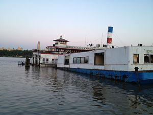 Rear of Ferry Binghampton in Edgewater New Jersey. Partially Submerged in May 2012.jpg