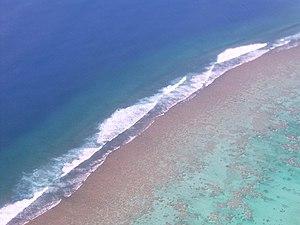 Aitutaki - A reef outside of Aitutaki
