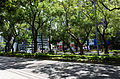 Refuge island of Dunhua North Road in Sunny Day 20150628.jpg