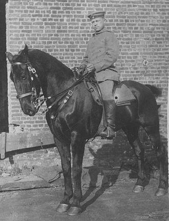 """German cavalry in World War I - Soldier of the Grenadier-Regiment """"König Friedrich Wilhelm I."""" (2. Ostpreußisches) Nr. 3 in Königsberg during equestrian training"""