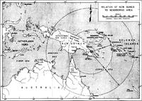 Relation of Buna-Sanananda-New Guinea to Neighboring Area