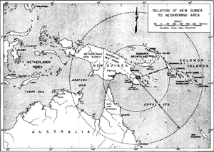 Operation Lilliput - Relation of Buna-Sanananda-New Guinea campaign within region.