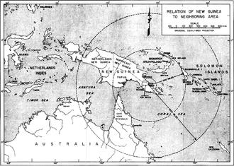 Operation Lilliput - Relation of Buna-Sanananda-New Guinea campaign within region.