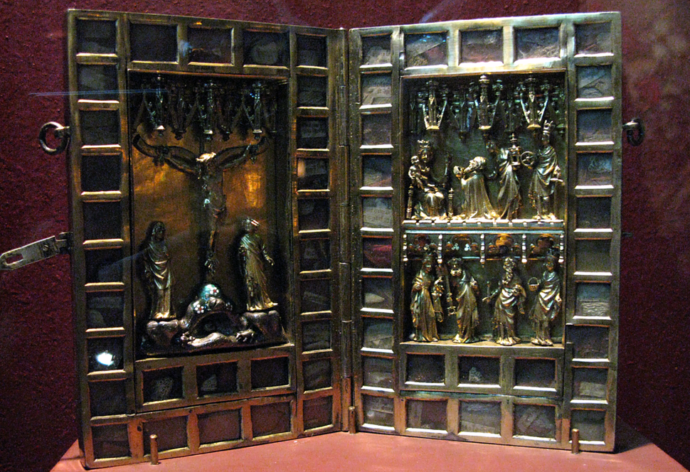 Reliquary made in Elbing in 1388 for Teutonic komtur Thiele von Lorich, military Trophy of Polish king Wladislaus in 1410
