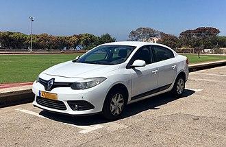 Renault Fluence - Renault Fluence facelift (Israel)