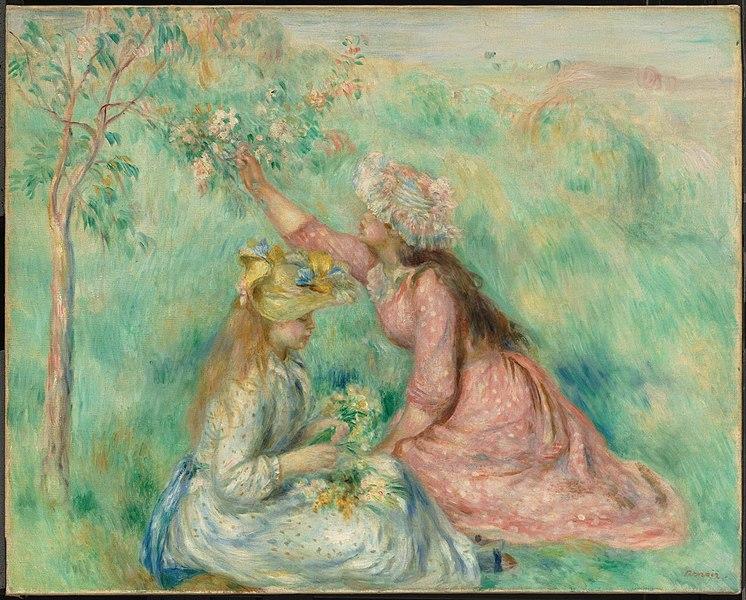 File:Renoir - Girls Picking Flowers in a Meadow, about 1890.jpg