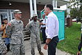 Republican presidential nominee Mitt Romney thanks Louisiana Army National Guardsmen for their efforts in the aftermath of Hurricane Isaac Aug. 31, 2012, in Lafitte, La 120831-F-VU198-255.jpg