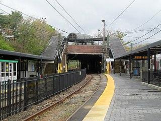 Reservoir station (MBTA) Boston MBTA subway station